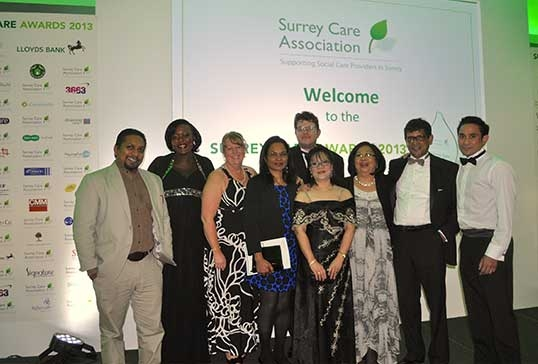 3 Winners at the Surrey Care Awards 2013