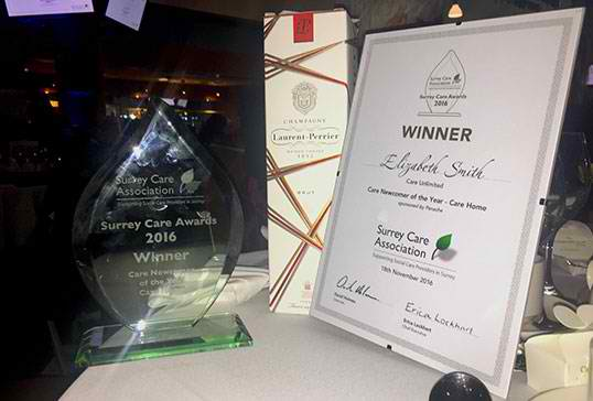 Supported Living – Surrey Care Awards winner 2016