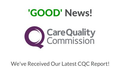 New CQC Inspection Report – GOOD