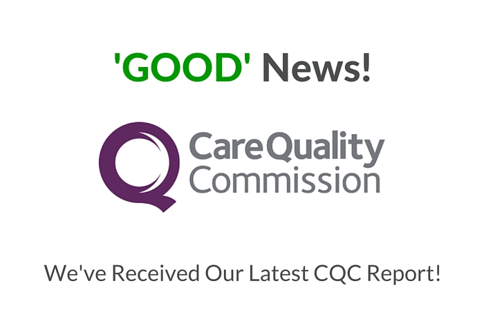 New CQC Inspection Report – GOOD